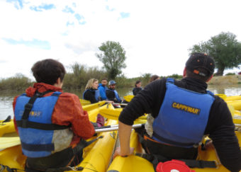 Kayak in the Ebro